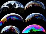 Interferensmönster i såpbubblor